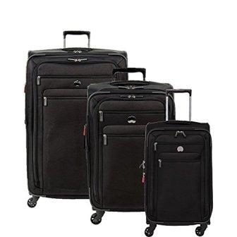 Set di valigie Spinner Softside 3 pezzi Delsey Luggage Helium Sky 2.0