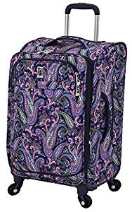 "London Fog Soho Trolley espandibile da 21 "", rosa navy Paisley"