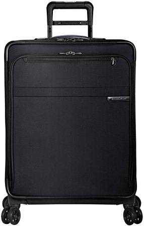 Briggs & Riley Baseline-Softside CX espandibile Trolley Spinner medio a quadri