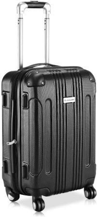 "Vai più GLOBALWAY 20"" Expandable ABS Carry On Luggage Travel Bag Trolley Suitcase"