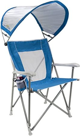 GCI Outdoor SunShade Captain's Beach Chair with Canopy